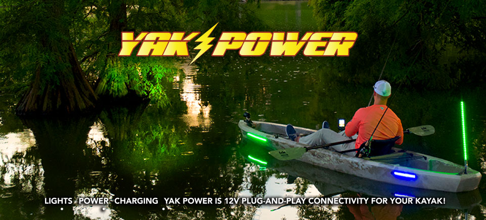 Yak-Power, a better way to power and add electronics to your kayak with less wires to hang your hook on!